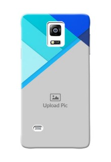 samsung Note4 (2015) Blue Abstract Mobile Cover Design