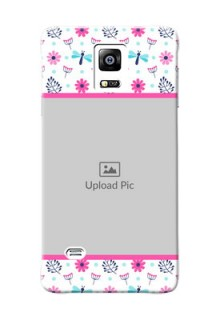 samsung Note4 (2015) Colourful Flowers Mobile Cover Design
