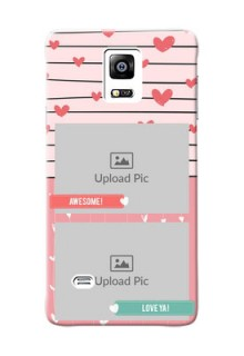 samsung Note4 (2015) 2 image holder with hearts Design