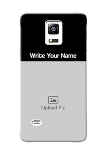Galaxy Note4 (2015) Photo with Name on Phone Case