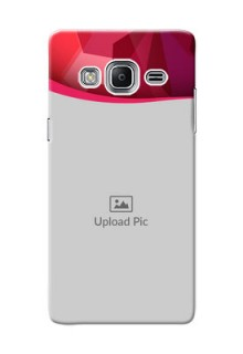 Samsung Z3 Red Abstract Mobile Case Design
