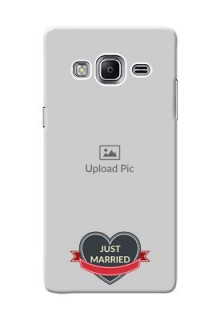 Samsung Z3 Just Married Mobile Cover Design