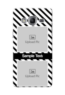 Samsung Z3 2 image holder with black and white stripes Design