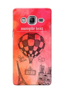 Samsung Z3 abstract painting with paris theme Design
