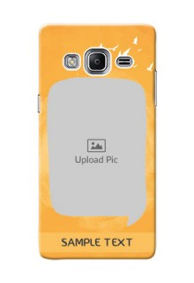 Samsung Z3 watercolour design with bird icons and sample text Design Design