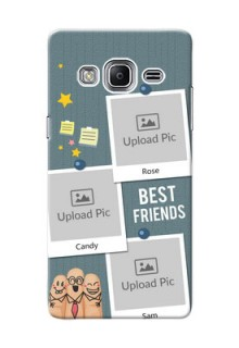 Samsung Z3 3 image holder with sticky frames and friendship day wishes Design