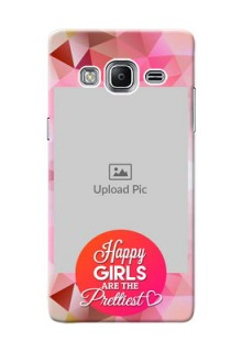 Samsung Z3 abstract traingle design with girls quote Design