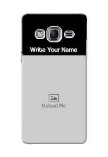 Galaxy Z3 Photo with Name on Phone Case