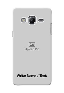 Galaxy Z3 Mobile Cover: Photo with Text