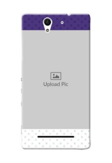 Sony Xperia C3 Violet Pattern Mobile Cover Design