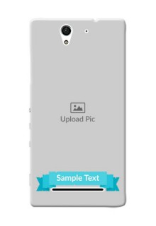 Sony Xperia C3 Simple Mobile Back Cover Design