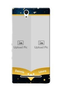 Sony Xperia C3 2 image holder with galaxy backdrop and stars  Design