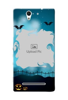 Sony Xperia C3 halloween design with designer frame Design