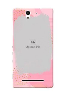 Sony Xperia C3 splashes backdrop with gold glitter sprinkles Design Design