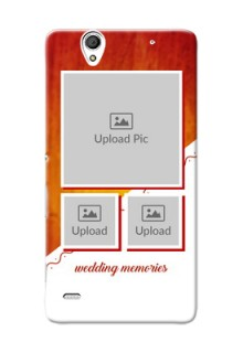 Sony Xperia C4 Wedding Memories Mobile Cover Design