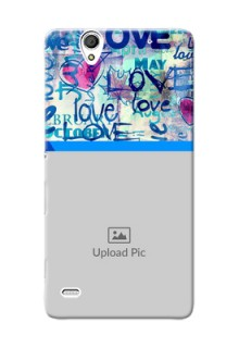 Sony Xperia C4 Colourful Love Patterns Mobile Case Design