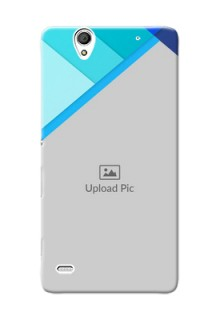 Sony Xperia C4 Blue Abstract Mobile Cover Design