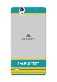 Sony Xperia C4 Yellow And Blue Pattern Mobile Case Design