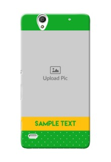 Sony Xperia C4 Green And Yellow Pattern Mobile Cover Design