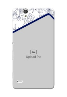 Sony Xperia C4 Floral Design Mobile Cover Design