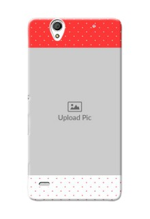 Sony Xperia C4 Red Pattern Mobile Case Design