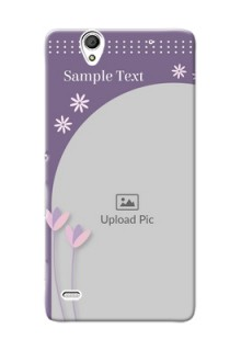 Sony Xperia C4 lavender background with flower sprinkles Design Design
