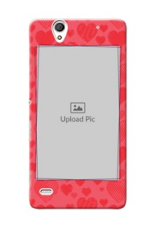 Sony Xperia C4 multiple hearts symbols Design
