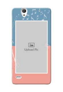 Sony Xperia C4 2 colour backdrop with music theme Design Design