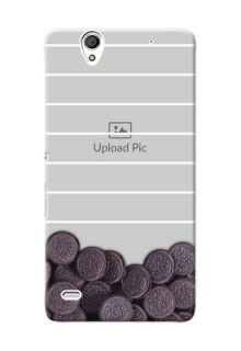 Sony Xperia C4 oreo biscuit pattern with white stripes Design Design