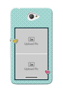 Sony Xperia E4 2 image holder with pattern Design