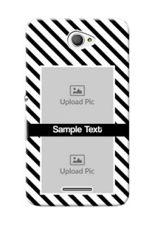 Sony Xperia E4 2 image holder with black and white stripes Design