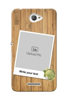 Sony Xperia E4 3 image holder with wooden texture  Design