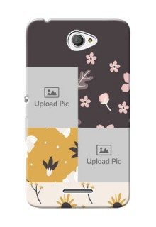 Sony Xperia E4 3 image holder with florals Design