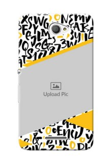Sony Xperia E4 2 image holder with letters pattern  Design