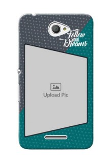 Sony Xperia E4 2 colour background with different patterns and dreams quote Design Design