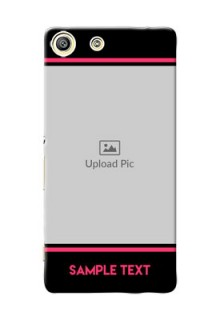 Sony Xperia M5 Aqua Photo With Text Mobile Case Design