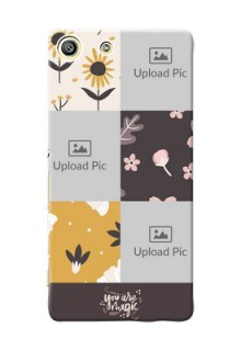 Sony Xperia M5 Aqua 3 image holder with florals Design