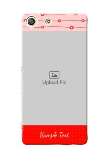 Sony Xperia M5 Dual Red Pattern Mobile Case Design