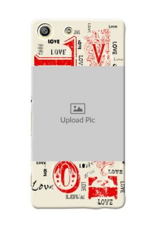 Sony Xperia M5 Dual Lovers Picture Upload Mobile Case Design