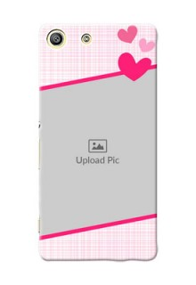 Sony Xperia M5 Dual Pink Design With Pattern Mobile Cover Design