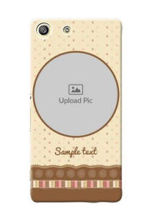 Sony Xperia M5 Dual Brown Abstract Mobile Case Design
