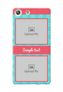 Sony Xperia M5 Dual Pink And Blue Pattern Mobile Case Design