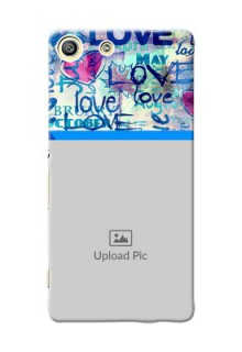 Sony Xperia M5 Dual Colourful Love Patterns Mobile Case Design