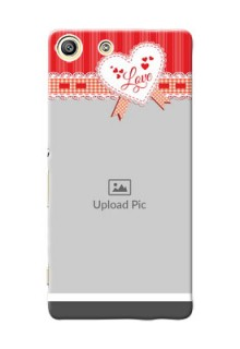 Sony Xperia M5 Dual Red Pattern Mobile Cover Design