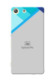 Sony Xperia M5 Dual Blue Abstract Mobile Cover Design