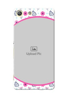 Sony Xperia M5 Dual Colourful Flowers Mobile Cover Design