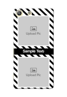 Sony Xperia M5 Dual 2 image holder with black and white stripes Design