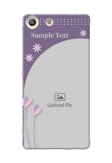 Sony Xperia M5 Dual lavender background with flower sprinkles Design Design