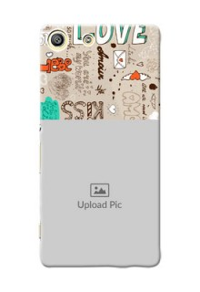 Sony Xperia M5 Dual love doodle  pattern Design