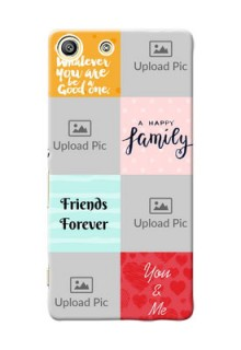 Sony Xperia M5 Dual 4 image holder with multiple quotations Design
